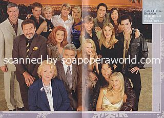 Bonus 2-Page Poster of the cast of The Bold and The Beautiful