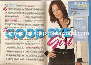 Exit Interview with departing GH star, Kelly Thiebaud (Britt Westbourne on General Hospital)