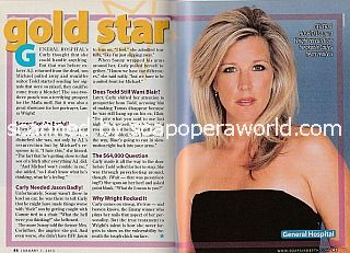 Gold Star Performer - Laura Wright of General Hospital