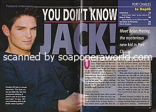 Interview with Brian Presley (Jack on the ABC soap opera, Port Charles)