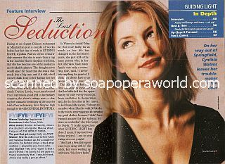 Interview with Cynthia Watros (Annie Dutton the soap opera, Guiding Light)