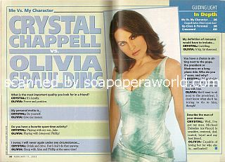 Me vs. My Character with Crystal Chappell (Olivia Spaulding on Guiding Light)