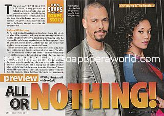 Y&R Cover Story All Or Nothing featuring Bryton James and Mishael Morgan