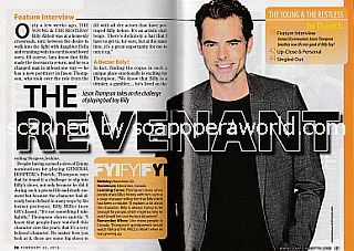 Interview with actor  Jason Thompson (Jason is the new Billy Abbott on The Young & The Restless)