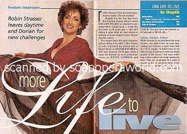 Feature Interview with Robin Strasser of OLTL
