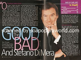 Interview with Joseph Mascolo (Stefano DiMera on Days Of Our Lives)