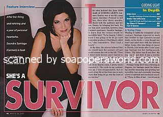 Interview with Saundra Santiago (Carmen on the CBS soap opera, Guiding Light)