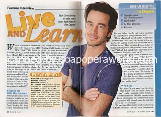 Interview with Ryan Carnes (Lucas on the ABC soap opera, General Hospital)