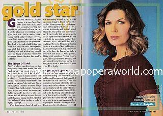 Gold Star Performer - Finola Hughes of General Hospital