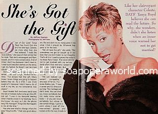 Interview with Tanya Boyd (Celeste on Days Of Our Lives soap opera)