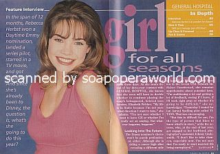 Interview with Rebecca Herbst (Elizabeth on General Hospital)