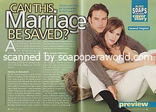 General Hospital Cover Story featuring Tyler Christopher and Natalia Livingston