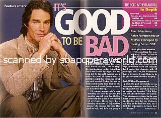 Interview with Ronn Moss (Ridge Forrester on The Bold and The Beautiful)