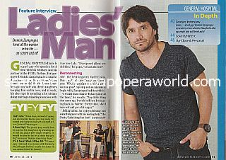 Interview with Dominic Zamprogna (Dante on the ABC soap, General Hospital)