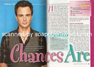 Interview with  Darin Brooks (Wyatt Spencer on the soap opera, The Bold & The Beautiful)