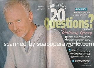 20 Questions for Anthony Geary of General Hospital