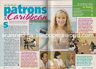 In The Caribbean with Cady McClain (Rosanna on As The World Turns)