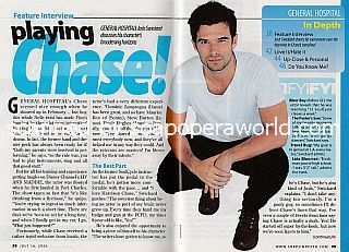 Interview with Josh Swickard (Chase on General Hospital)