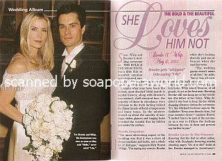 Wedding Album featuring Bold & Beautiful stars Katherine Kelly Lang and Rick Hearst (Brooke and Whip)