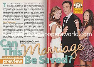 Y&R Cover Story featuring Tracey E. Bregman, Daniel Goddard & Christel Khalil (Lauren, Cane and Lily)