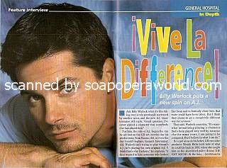 Interview with Billy Warlock (AJ Quartermaine on General Hospital)
