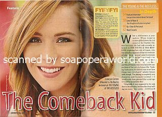Interview with Camryn Grimes (Mariah on the soap opera, The Young & The Restless)