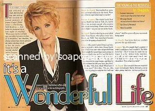 Interview with  Jeanne Cooper (Katherine on the soap opera, The Young & The Restless)