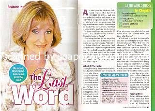Interview with Elizabeth Hubbard (Lucinda on As The World Turns)