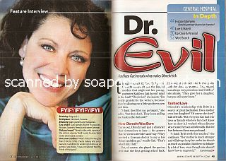 Interview with Kathleen Gati (Dr. Obrecht on the ABC soap opera, General Hospital)