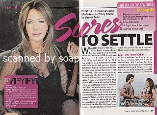 Interview with Hunter Tylo (Taylor on The Bold and The Beautiful)