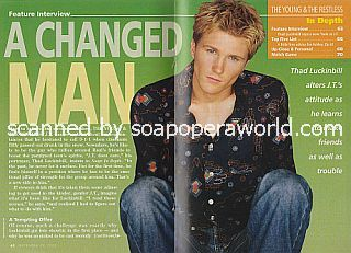 Interview with Thad Luckinbill (J.T. on The Young and The Restless)