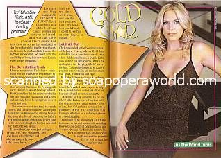 Gold Star Performer:  Terri Colombino (Katie on As The World Turns)
