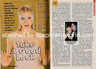 Interview with Liza Huber (Gwen Hotchkiss on the NBC soap opera, Passions)