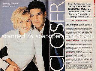 Interview with McKenzie Westmore and Galen Gering (Sheridan and Luis on the NBC soap opera, Passions)