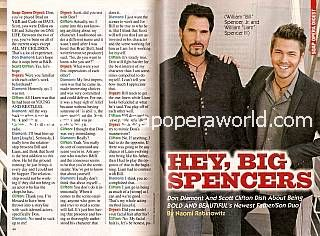 Interview with Don Diamont & Scott Clifton (Bill & Liam on The Bold & The Beautiful)