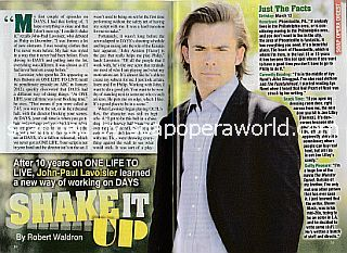 Interview with John-Paul Lavoisier (the new Philip on soap opera, Days Of Our Lives)