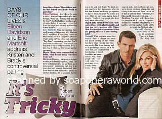 Interview with Eric Martsolf & Eileen Davidson (Brady & Kristen on Days Of Our Lives)