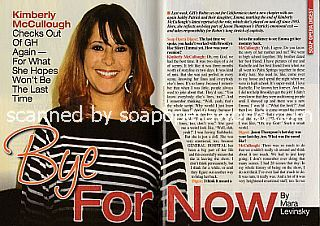 Interview with  exiting GH star Kimberly McCullough (Kimberly has played Robin on General Hospital on and off  since 1985)