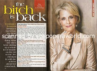 Interview with Constance Towers (Helena on soap opera, General Hospital)