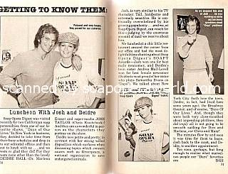 Josh Taylor & Deidre Hall of Days Of Our Lives
