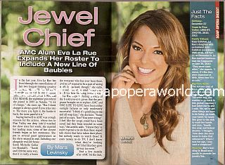 Interview with Eva LaRue (ex-Maria on All My Children)