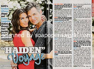 Interview with Kristian Alfonso & Daniel Cosgrove (Hope and Aiden on Days Of Our Lives)