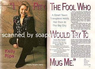 Interview with Kelly Ripa (Hayley Vaughn on All My Children)