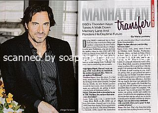 Interview with Thorsten Kaye (Thorsten plays Ridge Forrester on The Bold & The Beautiful)