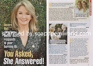 Interview with Deidre Hall (Marlena/Hattie on Days Of Our Lives)