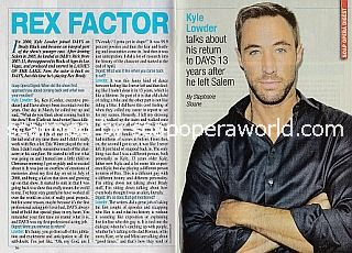 Interview with Kyle Lowder (the new Rex Brady on Days Of Our Lives)