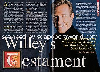 Interview with Walt Willey (Jackson on All My Children)