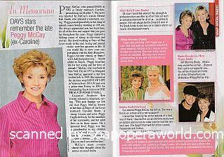 In Memoriam - Days Stars Remember The Late Peggy McCay (ex-Caroline)