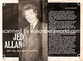 Interview with Jed Allan (Don Craig on Days Of Our Lives)