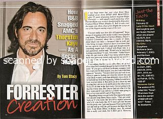 Interview with  Thorsten Kaye (Ridge Forrester on The Bold & The Beautiful)
